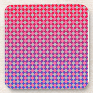 Cool pink grey red and blue diamonds design beverage coasters