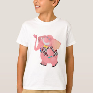Cool Pink Lady Elephant Apparel and  T-shirts