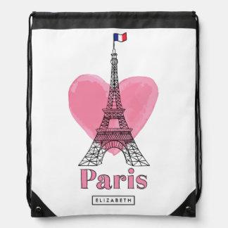 Cool Pink Paris Eiffel Tower Modern Backpack