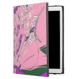 "Cool pink purple lovely pattern design monogram iPad pro 12.9"" case"