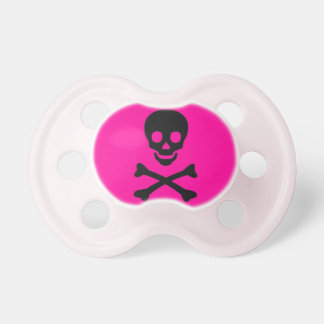 Cool Pink Skull pacifier