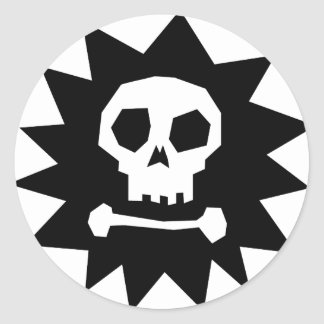 Cool Pirate Skull  (pack of 6/20) Classic Round Sticker