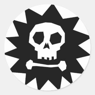 Cool Pirate Skull  (pack of 6/20) Round Sticker