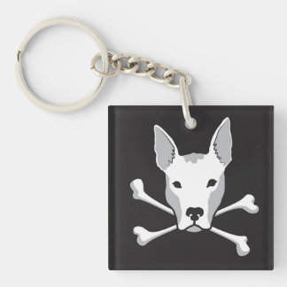 "Cool ""Pittie Skull"" Keychain"