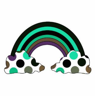 Cool Polka Dot Rainbow Ornament Photo Sculpture