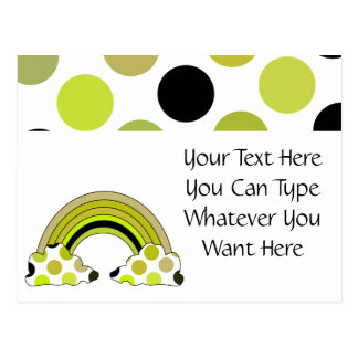Cool Polka Dot Rainbow Postcard