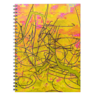 Cool Pollock-inspired Scribble Notebook