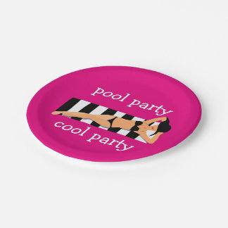 Cool Pool Party 7 Inch Paper Plate