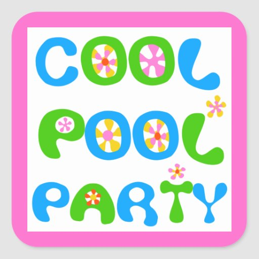 Cool Pool Party Sticker