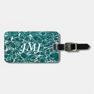 Cool Pool Waves Luggage Tag