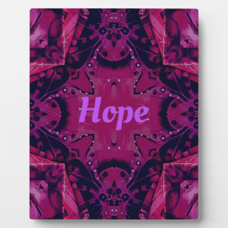 Cool Pop Magenta Lavender 'Hope'  Artistic Design Display Plaques
