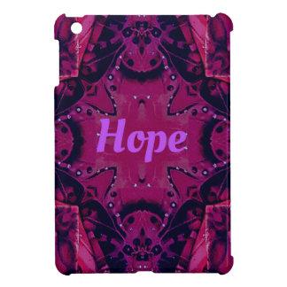 Cool Pop Magenta Lavender 'Hope'  Artistic Design iPad Mini Covers