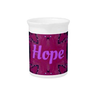 Cool Pop Magenta Lavender 'Hope'  Artistic Design Pitcher