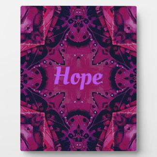 Cool Pop Magenta Lavender 'Hope'  Artistic Design Plaque
