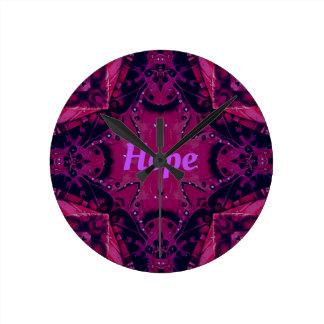 Cool Pop Magenta Lavender 'Hope'  Artistic Design Wallclock