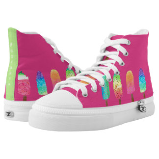 Cool Popsicles #GOFORTH Hot Pink High Tops