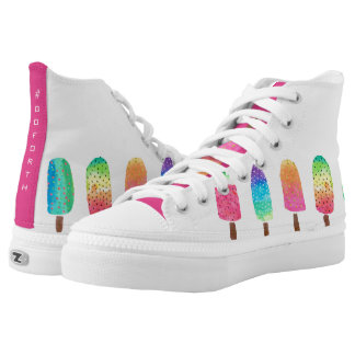 Cool Popsicles #GOFORTH White High Tops