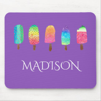 Cool Popsicles Purple Custom School Mouse Pad