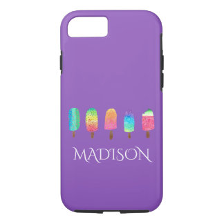 Cool Popsicles Trendy Purple Custom School iPhone 8/7 Case
