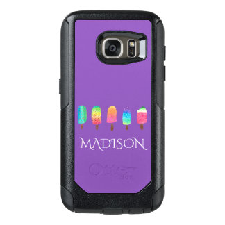 Cool Popsicles Trendy Purple Custom School OtterBox Samsung Galaxy S7 Case