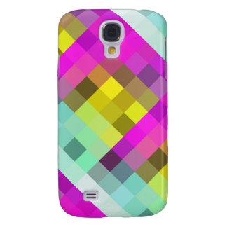 Cool & Popular Neon Colored Mosaic Pattern Galaxy S4 Cover