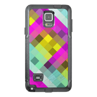 Cool & Popular Neon Colored Mosaic Pattern OtterBox Samsung Note 4 Case