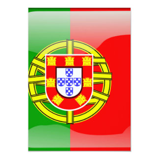 Cool Portugal Flag colourful Country Nationality f 13 Cm X 18 Cm Invitation Card