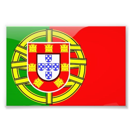 Cool Portugal Flag colourful Country Nationality Photographic Print