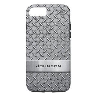 Cool Premium Diamond Cut Metallic Plate Pattern iPhone 8/7 Case