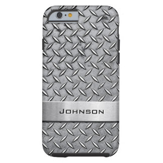 Cool Premium Diamond Cut Metallic Plate Pattern Tough iPhone 6 Case