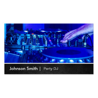 Cool Premium Metal - Turntable Scratching Music Dj Double-Sided Standard Business Cards (Pack Of 100)