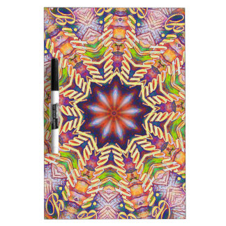 Cool Psychedelic Pastel Mandala Shaped Dry Erase Board