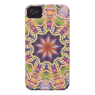 Cool Psychedelic Pastel Mandala Shaped iPhone 4 Case-Mate Cases