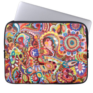 Cool Psychedelic Tribal Abstract Laptop Sleeve