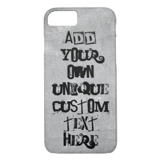 Cool Punk Look Custom 'Add your own text' iPhone 8/7 Case