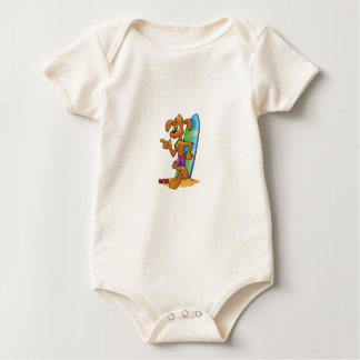 cool pup with board baby bodysuit
