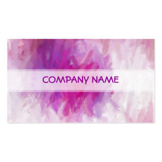 Cool Purple Abstract Art Painting Pack Of Standard Business Cards