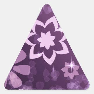 cool-purple-ART Triangle Sticker