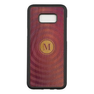 Cool Purple Designer Stripe Pattern Gold Monogram Carved Samsung Galaxy S8+ Case