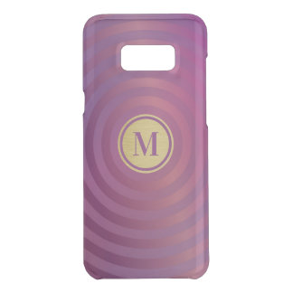 Cool Purple Designer Stripe Pattern Gold Monogram Uncommon Samsung Galaxy S8 Plus Case