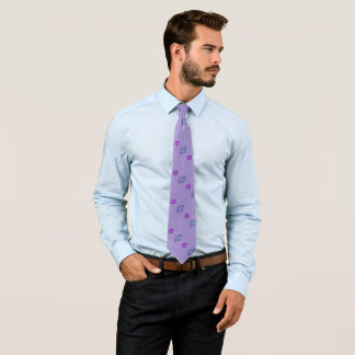 Cool Purple Diamonds Satin Tie