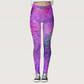 Cool Purple Leggings with Scratch like Appearance