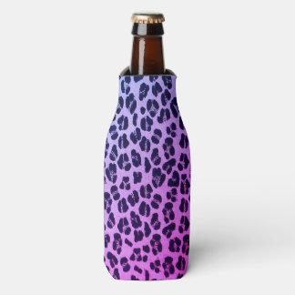 Cool Purple Leopard Print Bottle Cooler