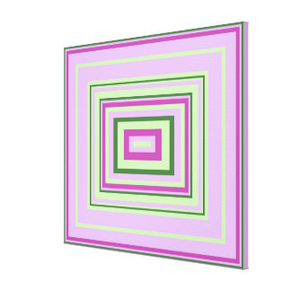 Cool Purple, Lilac, Mint Green Decor Design, med Canvas Print