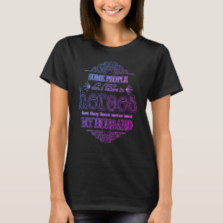 Cool Purple Proud Firefighter Wife T-Shirt