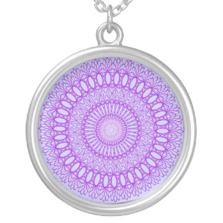 Cool Purple Spiral Art Necklace Jewelry