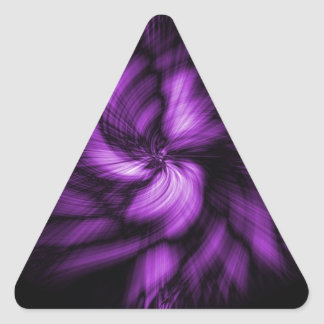 Cool Purple Swirls Triangle Stickers