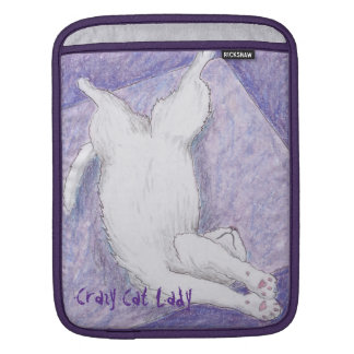 Cool Purples Crazy Cat Lady iPad Sleeve