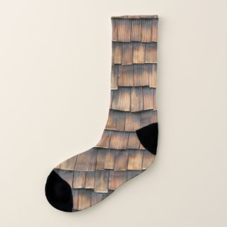 Cool, Quirky Fashion Brown Aged Wooden Shingles 1