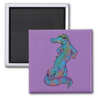 Cool Rainbow Gator Magnet